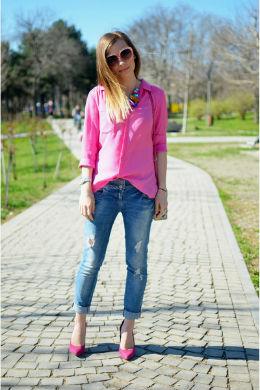 розовые туфли с чем носить фото