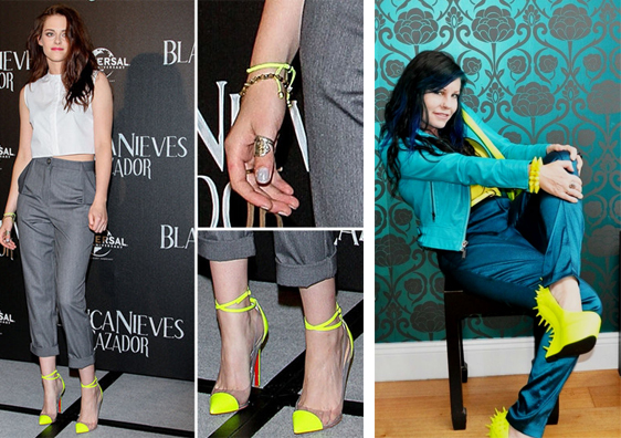С каким платьем одеть желтые туфли