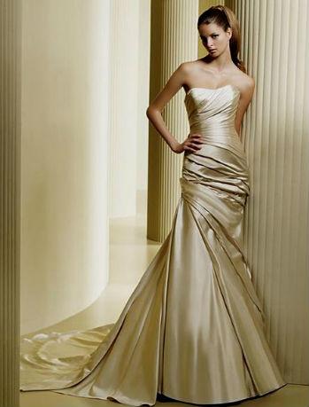 Золотое платье фото