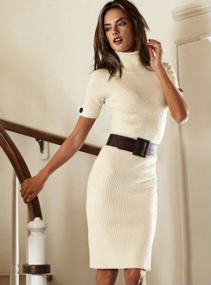 Белые платья с ремнем