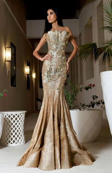 Золотое платье в пол фото