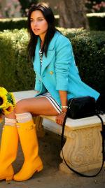 Модная резиновая обувь или с чем носить резиновые сапоги