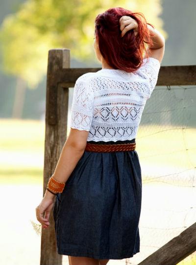 Кружевное болеро или кружевная накидка на платье – изюминка образа