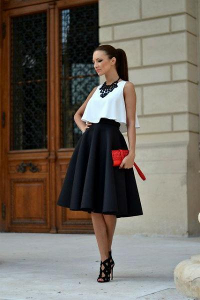 Блуза с юбкой солнце