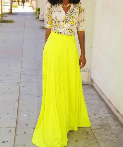Стильная юбка в пол или с чем носить длинную юбку в пол (много фото)