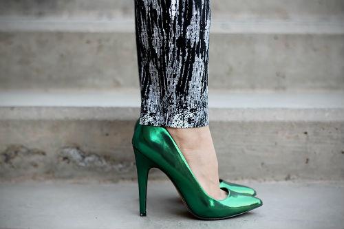 Женские туфли зеленого цвета или с чем носить зеленые туфли