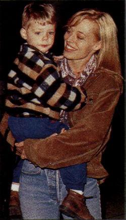 Джерри Райан с сыном от первого брака - Алексом.
