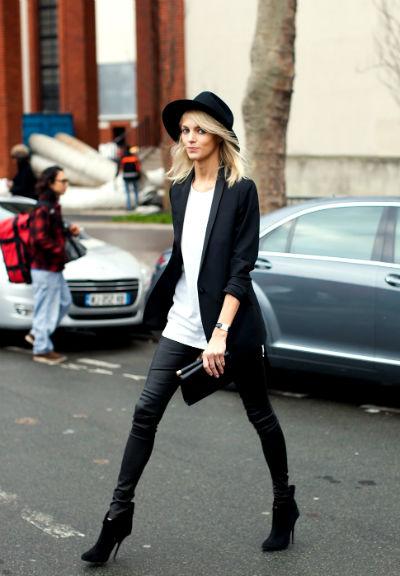 С чем носить кожаные брюки — лучшие модные луки (50 фото)