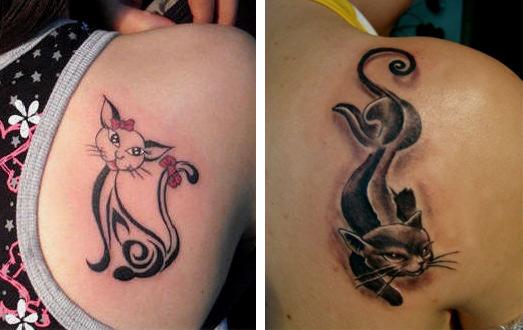 «Тату кошек на спине для девушек» коллекция пользователя uri 69