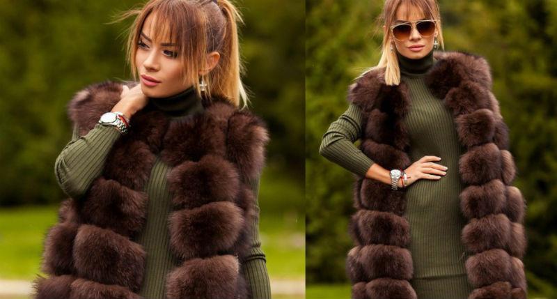 Модные рекомендации: с чем носить меховой жилет. Фото