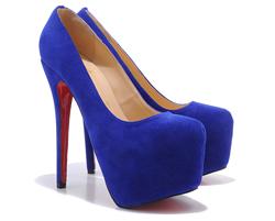 С чем носить синие замшевые туфли.