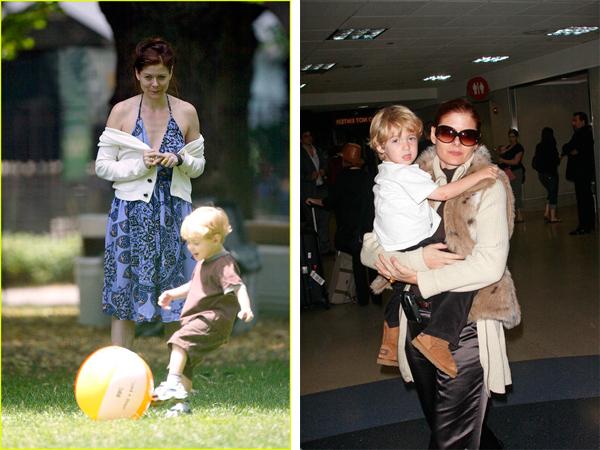 Дебра с сыном Ромэном.