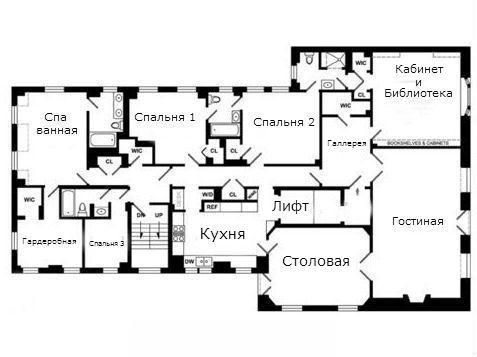 План этажа с квартирой.