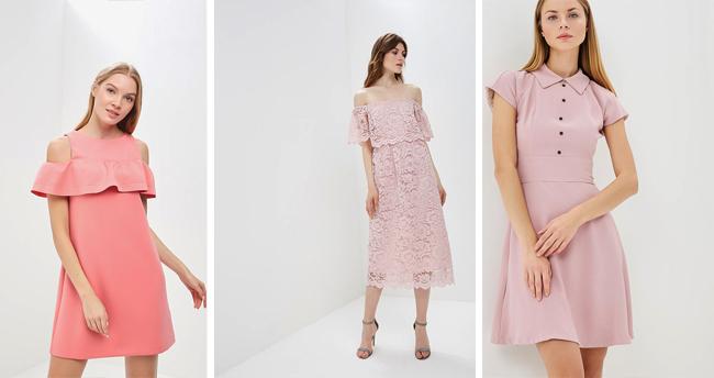 С чем носить розовое платье (модные рекомендации). Более 60 фото