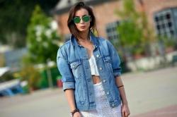С чем носить женскую джинсовую куртку. Более 100 фото идеальных луков