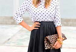Модная блузка в горошек или с чем носить блузку в горошек