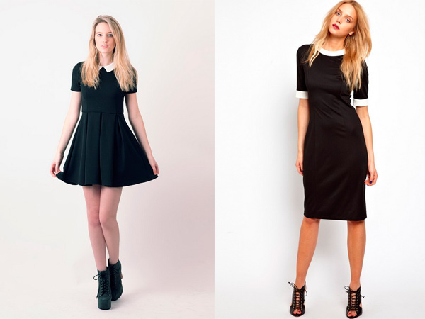 Черное короткое платье с какой обувью