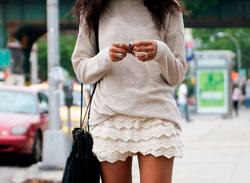 С чем носить юбку с воланами, рюшами, оборками. Более 60 фото