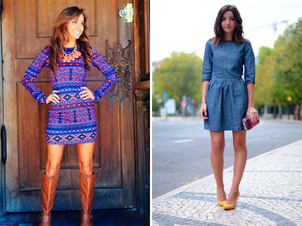 Синие платья, фото.