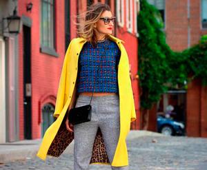 С чем носить желтое пальто (более 60 модных луков)