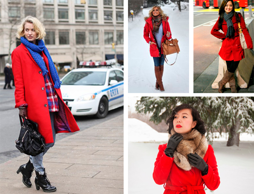 Какой шарф подойдет к красному пальто.