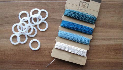 Как сделать модный браслет из колец и ниток (мастер-класс)