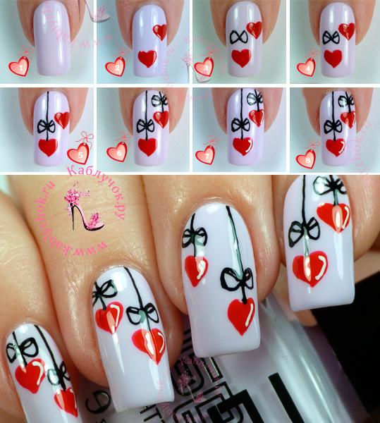 Делаем невероятно модный маникюр с сердечками (4 способа)