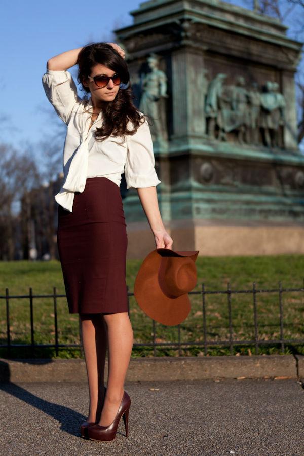 Бордовая юбка – шик и женственность в одном флаконе