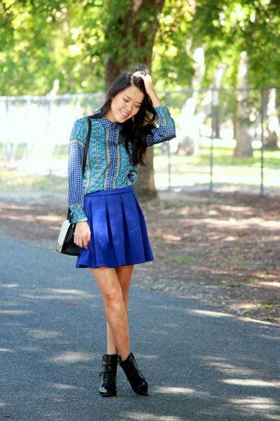 Синяя юбка – модная вещь стильного гардероба (более 40 фото)