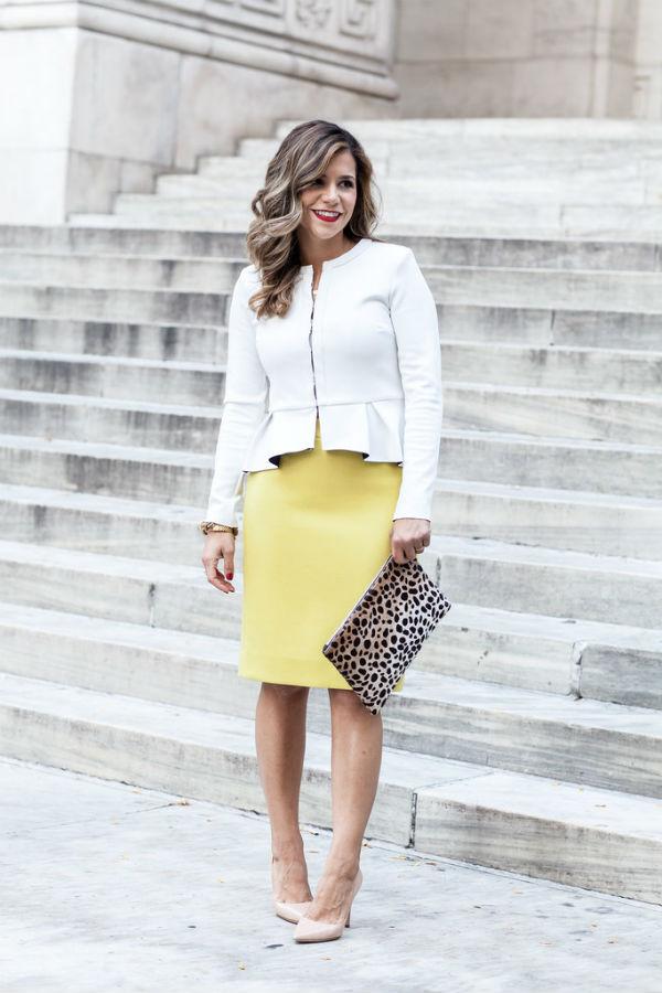 Желтая юбка: модные образы и рекомендации стилистов (более 50 фото)