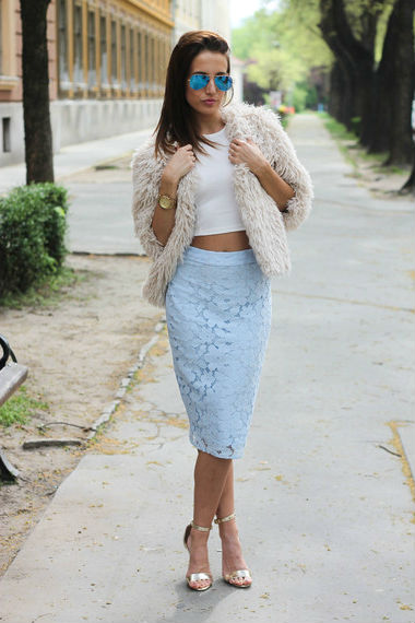 Crop юбка
