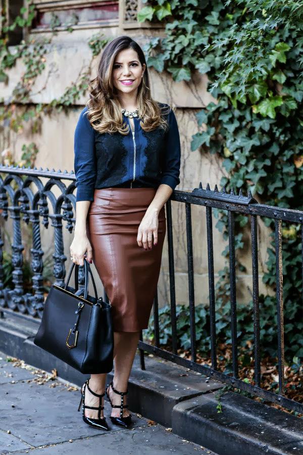 Коричневая юбка – вечно модная палитра одежды (более 40 фото модных образов)