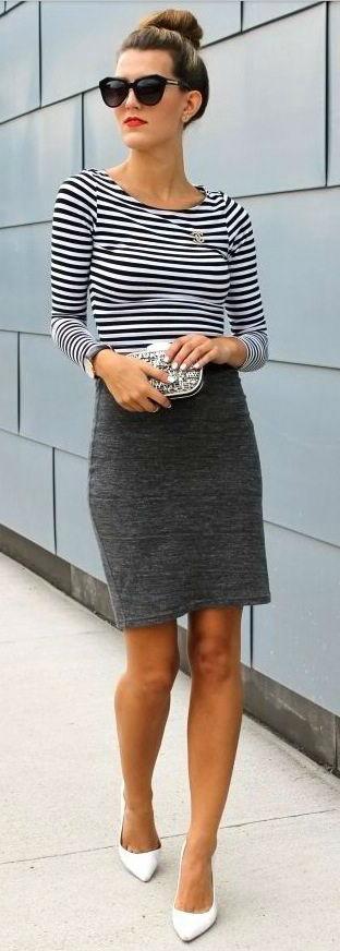 С чем сочетать серую юбку: стильные луки (более 40 фото)