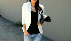 Белый пиджак — стильная одежда модного гардероба (более 40 фото)