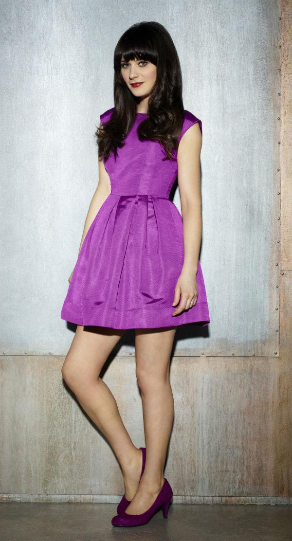 С чем носить фиолетовые туфли (более 40 идеальных образов)