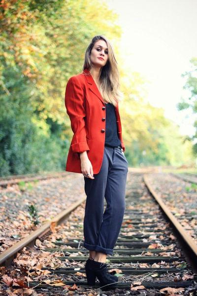 Красный женский пиджак - ярко и стильно (более 30 фото образов)