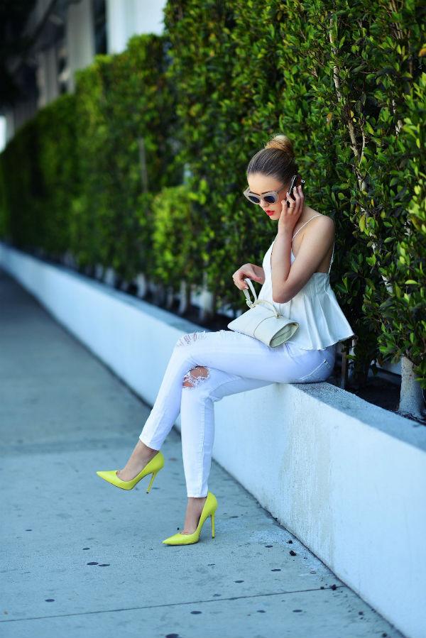 С чем сочетать желтые туфли (более 40 фото модных образов)