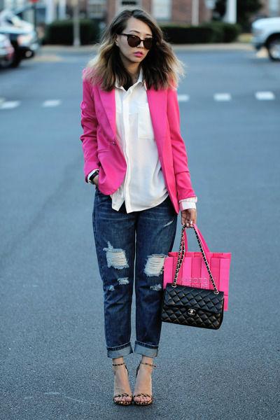 Женский розовый пиджак – яркая и романтичная вещь в образе