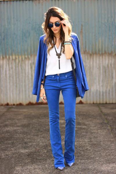 Синий женский пиджак – модная вещь стильного гардероба (50 фото)