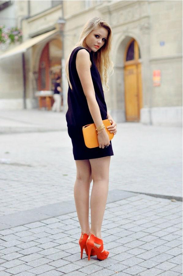Что носить с оранжевыми босоножками (более 40 фото образов)