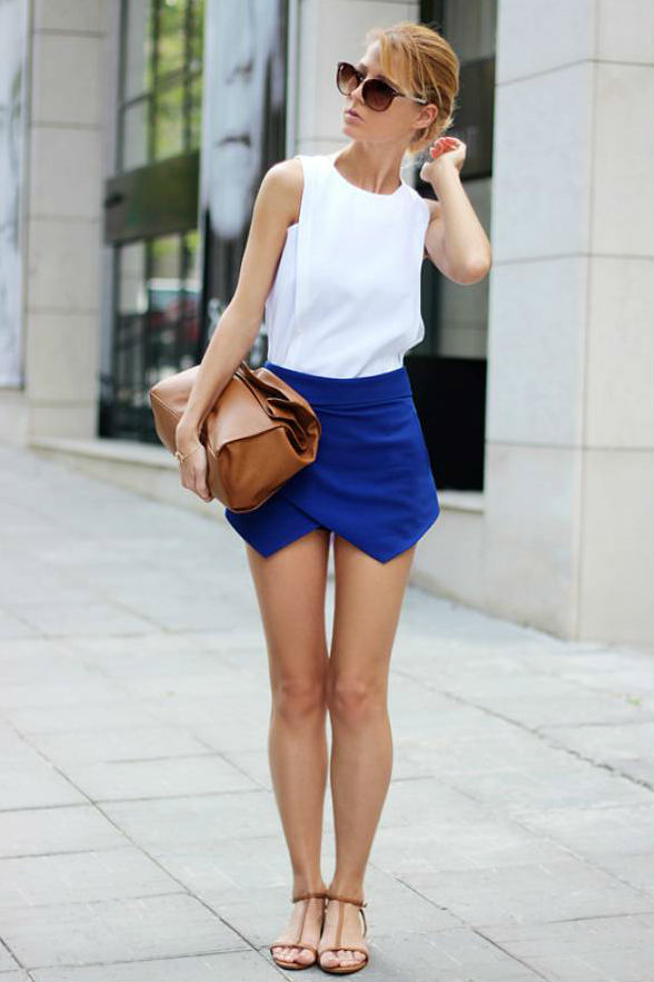 С чем сочетать юбку-шорты (для ярких модных натур)