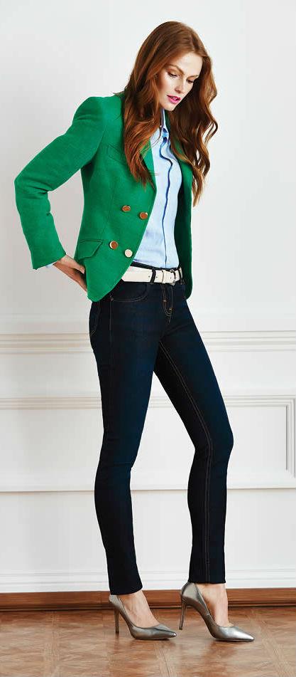 С чем сочетать <i>одеть</i> зеленый пиджак и ловить на себе восхищенные взгляды