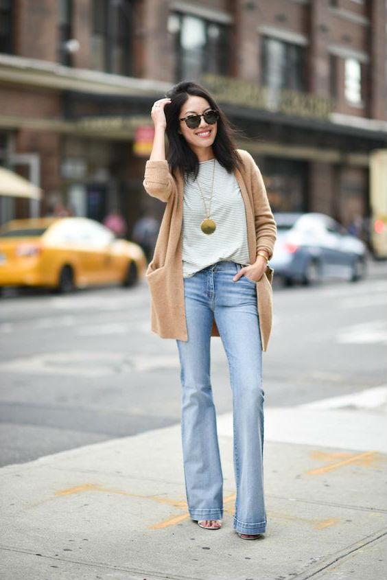 Кардиган и джинсы – модный тренд (более 40 стильных образов)