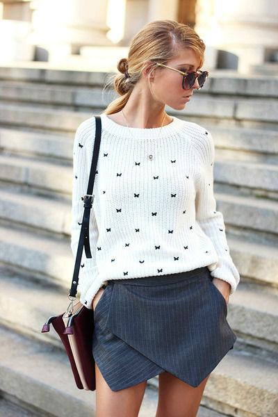 Белый свитер – стильная и комфортная вещь на прохладную погоду 55+ фото