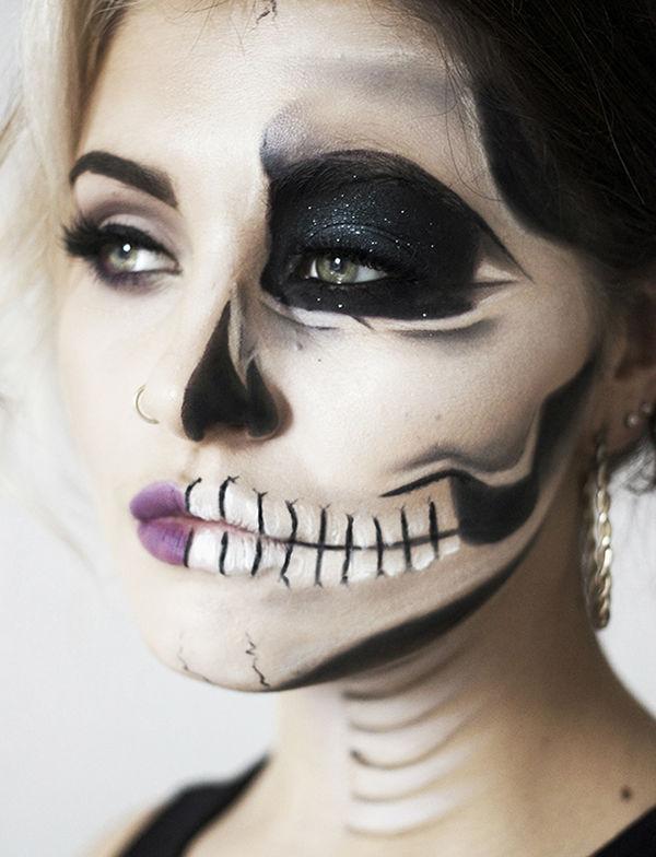 Ужасающе красивый макияж на Хэллоуин (идеи воплощения на фото и видео)