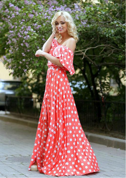 С чем носить платье в горошек (более 60 фото модных образов)