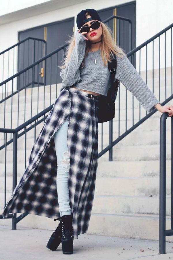 Грандж стиль в одежде - модно, свежо и удобно (45+фото)