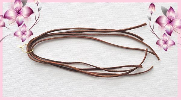 Как своими руками сделать серьги-кисти из замшевого шнура