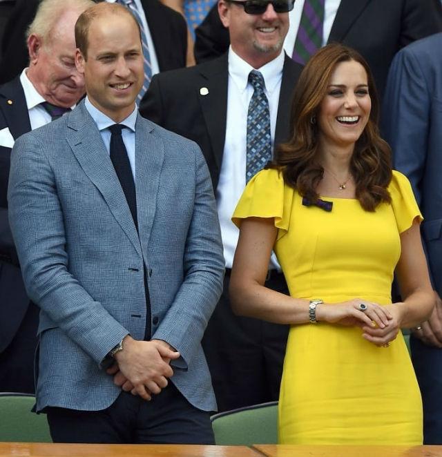 Кейт Миддлтон вместе с принцем Уильямом посетили мужской финал Уимблдона 2018