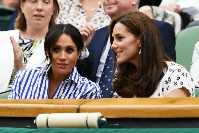 Прекрасно ладят: Кейт Миддлтон и Меган Маркл посетили матч по теннису